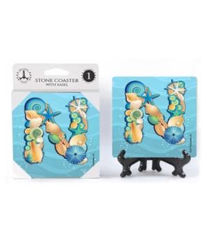 """Lettered Ocean Coasters - """"N"""""""