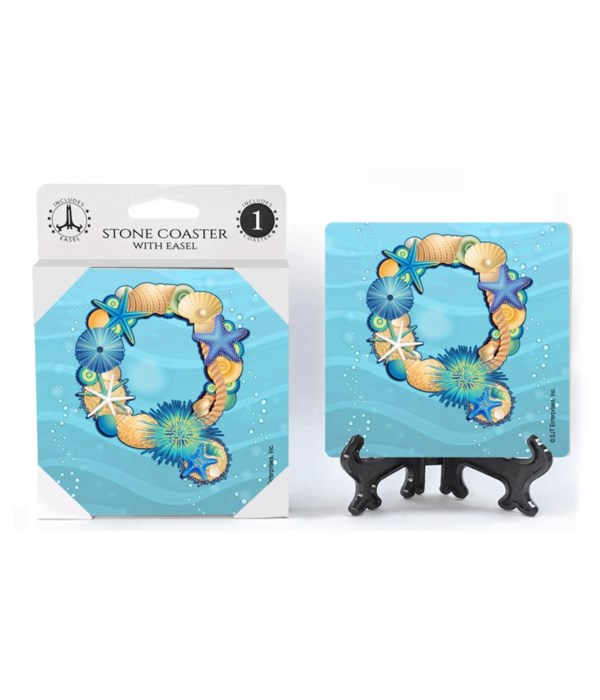 """Lettered Ocean Coasters - """"Q"""""""