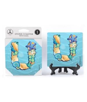 """Lettered Ocean Coasters - """"U"""""""