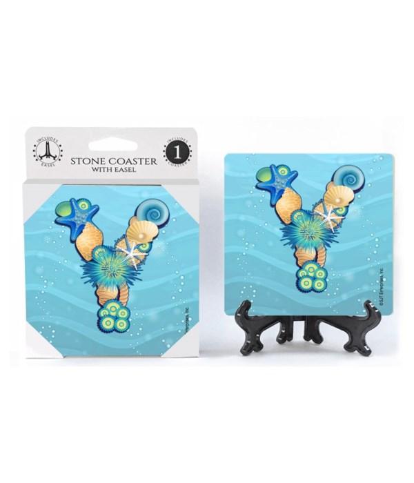 """Lettered Ocean Coasters - """"Y"""""""