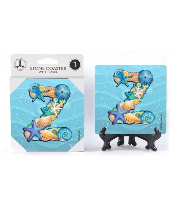 "Lettered Ocean Coasters - ""Z"""