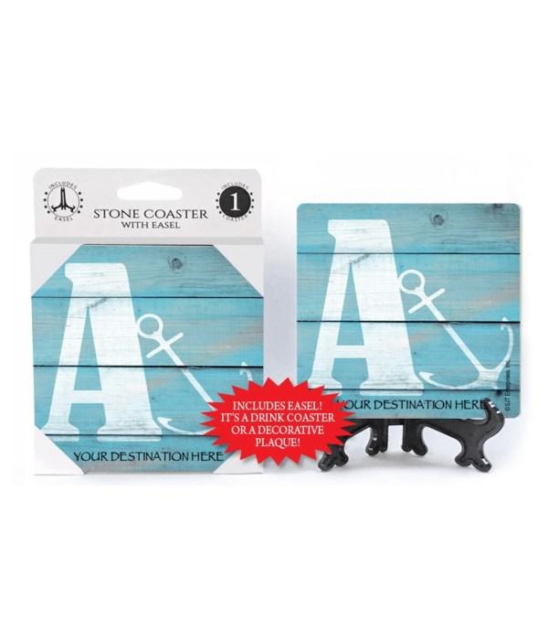 "Lettered Lake / Sail Coasters - ""A"""