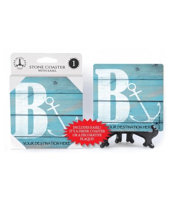 "Lettered Lake / Sail Coasters - ""B"""