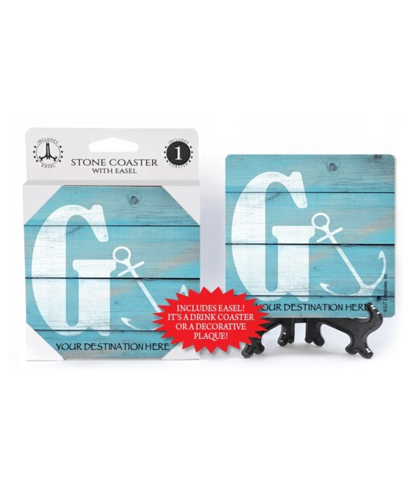 "Lettered Lake / Sail Coasters - ""G"""