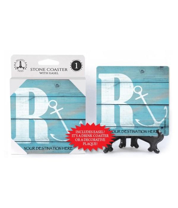 "Lettered Lake / Sail Coasters - ""R"""