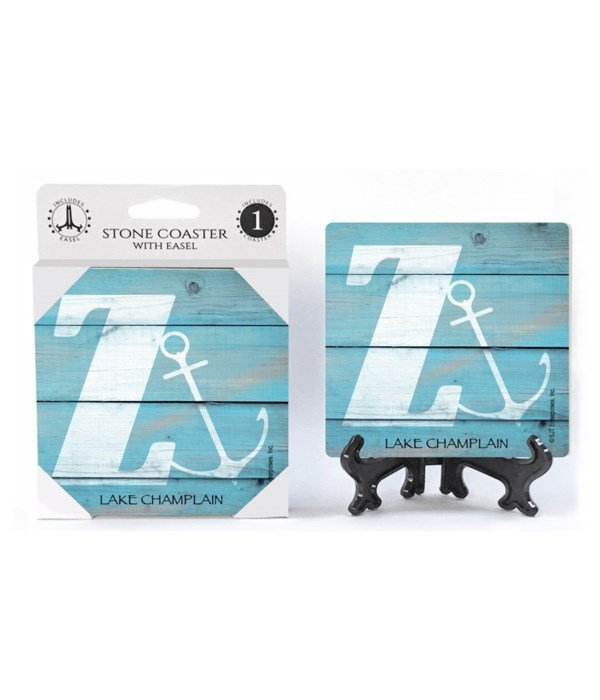 "Lettered Lake / Sail Coasters - ""Z"""