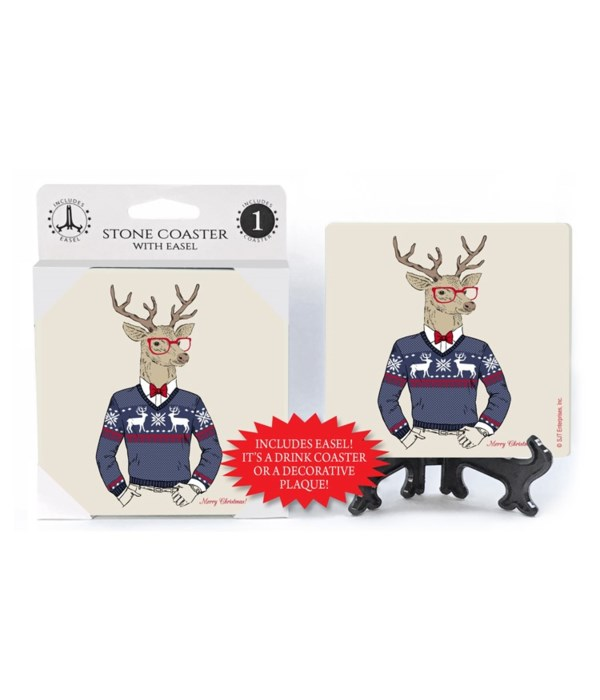 Hipster Deer - Christmas sweater worn by