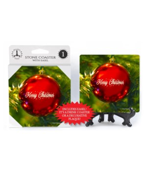 Merry Christmas - Single red ornament ha