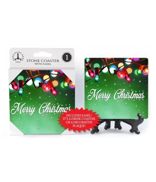 Merry Christmas - Christmas lights hung