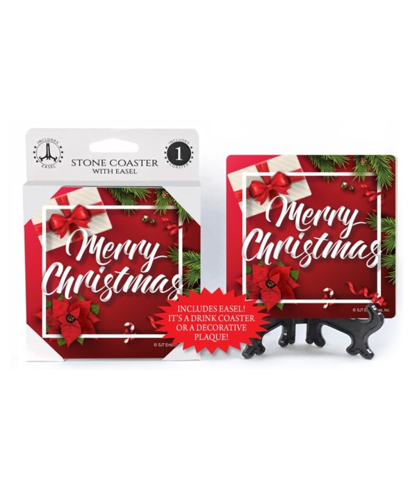 Merry Christmas - Wrapped gift box, poin