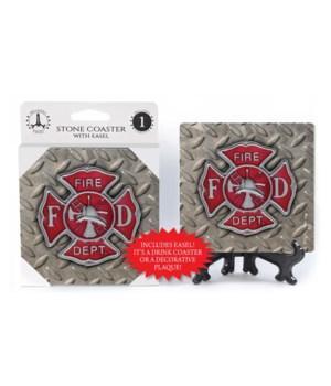 Fire Department - Badge - Steel grip bkg