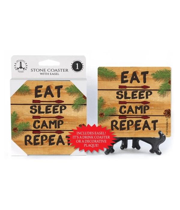 Eat, Sleep, Camp - Repeat  Coaster