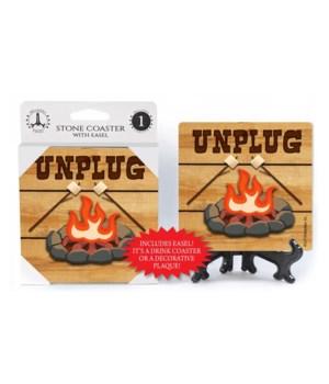 Unplug -  campfire Coaster