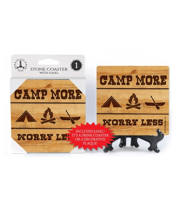 Camp More - Worry Less Coaster