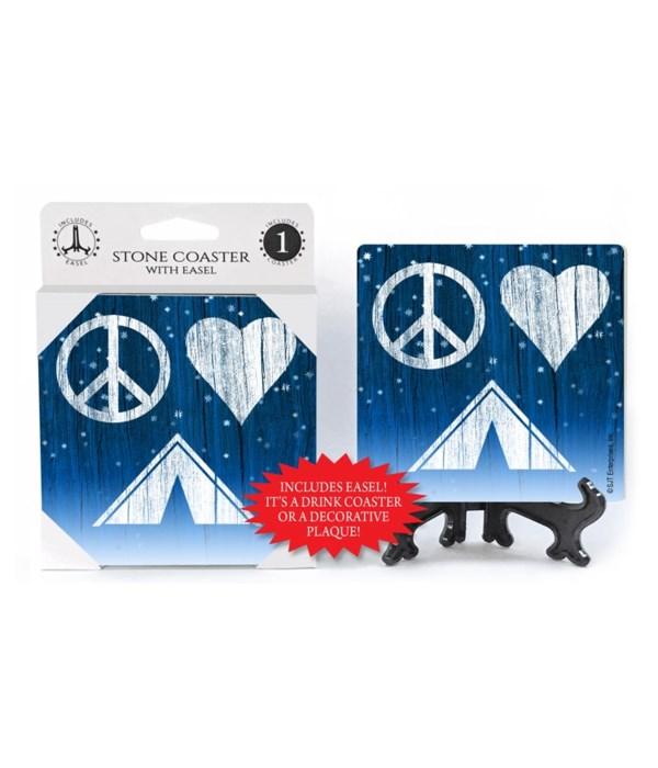 Peace - Love - Tent - symbols in a night