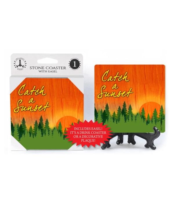 Catch a Sunset - Forest sunset Coaster