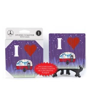 I (heart) Camper - symbols Coaster