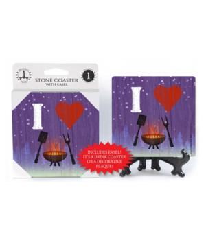 I (heart) grilling - symbols Coaster