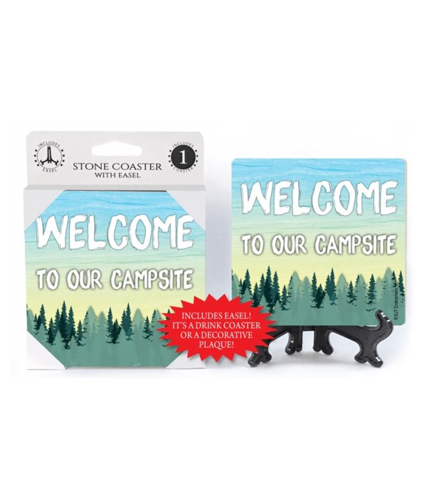 Welcome to our Campsite - forest bkgd Co