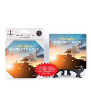 Plant happiness. Harvest love. Coaster