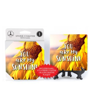 You are my sunshine (sunflower) Coaster