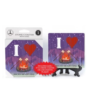 I (Heart) Campfire - Mountains Coaster