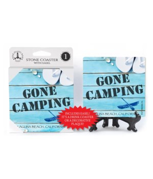 Gone Camping - Beach / Coastal Coaster