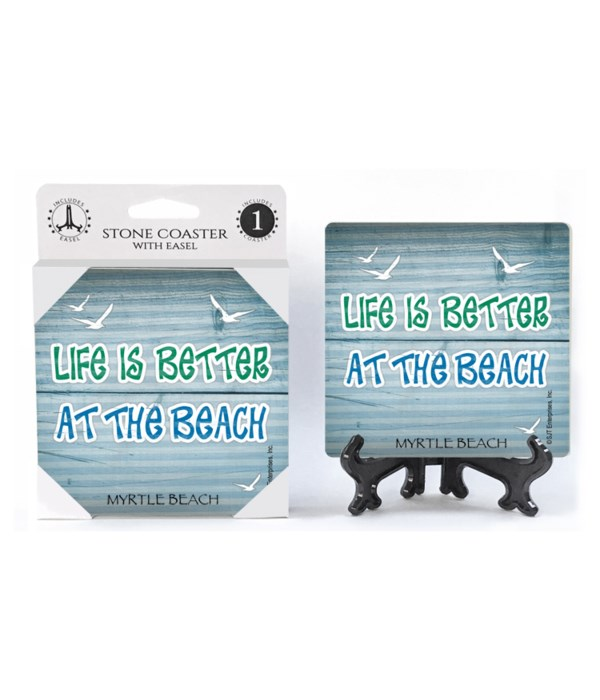 Life is better at the beach - flying sea