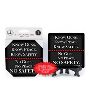 Know Guns, Know Peace,... coaster