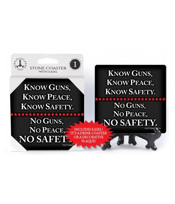 Know Guns, Know Peace,... coaster