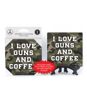 I love guns & coffee coaster