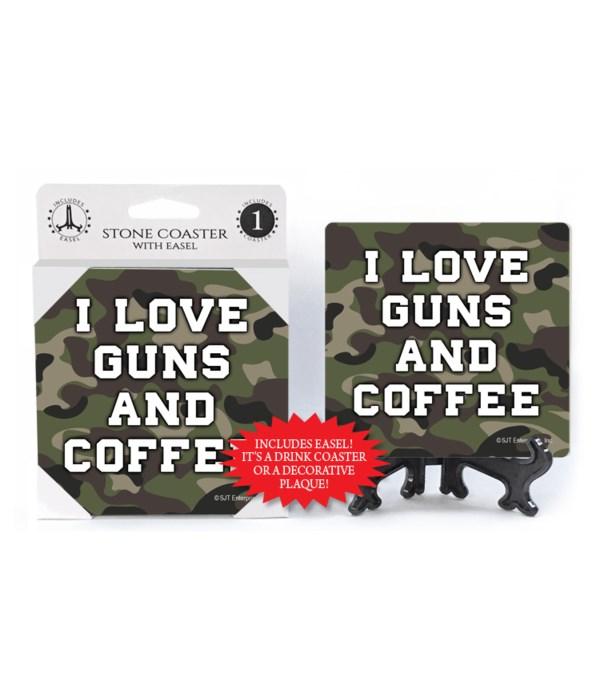 I love guns & coffee coaster