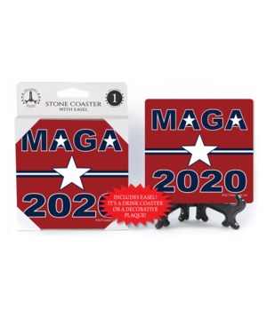 MAGA - 2020 - red bkgd w/star