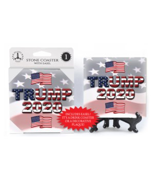 Trump 2020 - American flags with flag bk