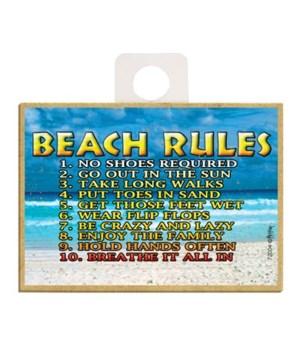 Beach Rules 1-10 Magnet