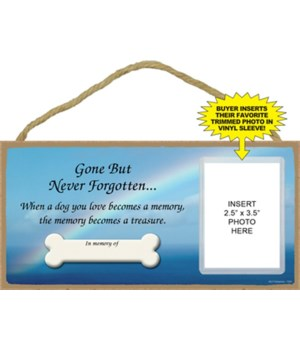 Dog Memorial picture 5x10 plaque