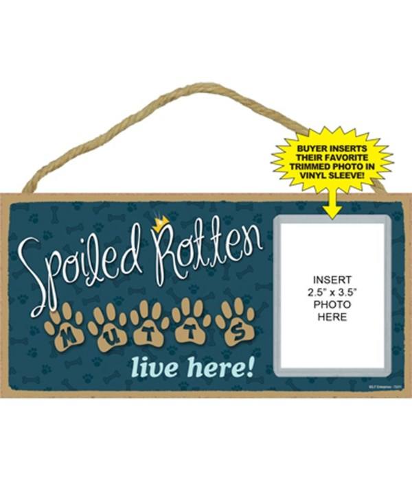 Spoiled Mutts picture 5x10 plaque