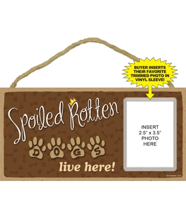 Spoiled Dogs picture 5x10 plaque