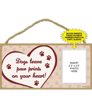 Dogs Paw Prints picture 5x10 plaque
