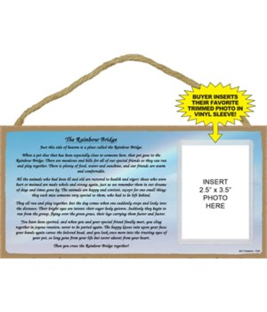 Rainbow Bridge picture 5x10 plaque
