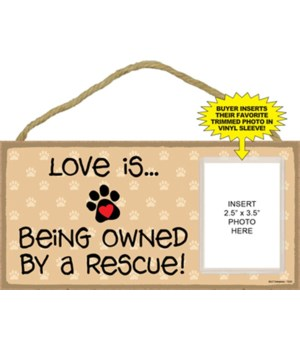 Love / rescue picture 5x10 plaque