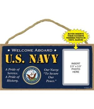 U.S. Navy photo insert 5x10 plaque