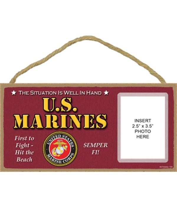 Marines photo insert 5x10 plaque