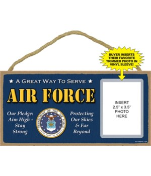 Air Force photo insert 5x10 plaque