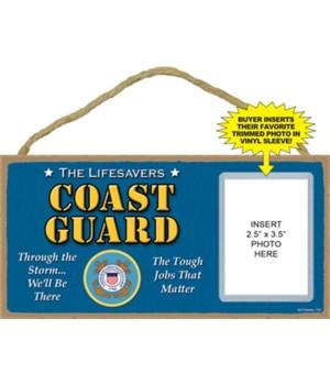 US Coast Guard photo insert 5x10 plaque