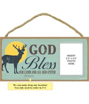 God bless our cabin and all who enter (deer image)