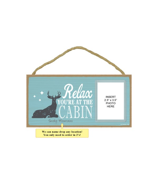 Relax. You're at the cabin (deer image)
