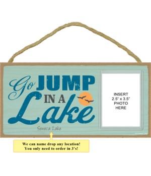 Go jump in a lake (sun & seagull image)