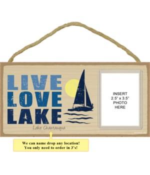 Live. Love. Lake (sailboat image)