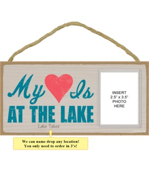 My heart is at the lake (heart image)